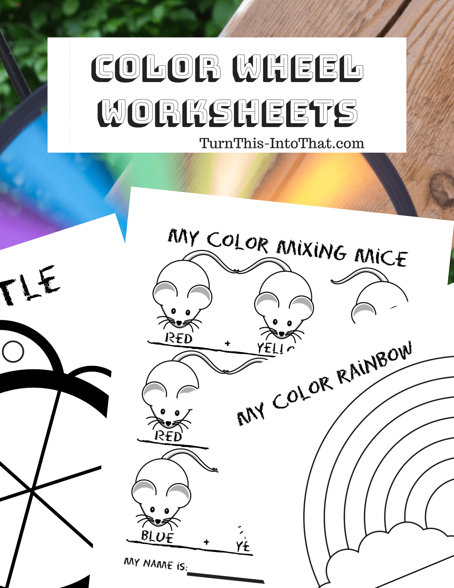 Color Wheel Worksheets Color Theory Color Mixing
