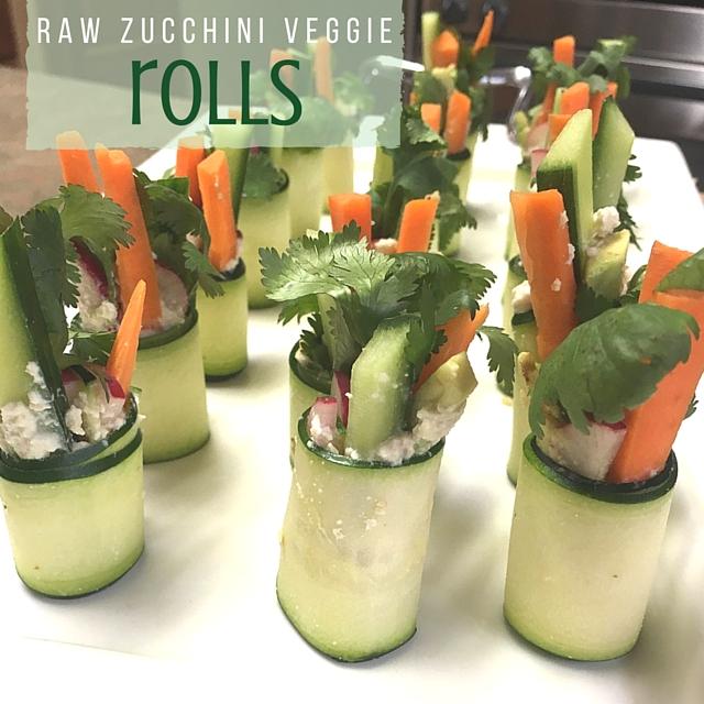 Raw Zucchini Veggie Rolls