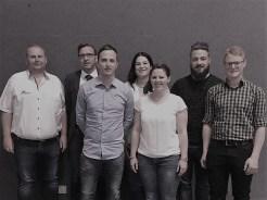 Neues Vorstandsteam: Jörg Hägele, Jürgen Krieg, Timo Funk, Stefanie Heinrich, Janine Mach, Simon Schmid, Philipp Stäb
