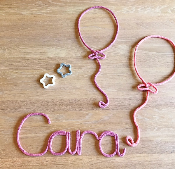 Knitted Name Signs & Shapes