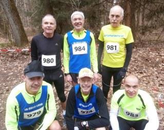die siegreichen Senioren: hintere Reihge: Eckhard, Hans-Jürgen, Nick, vorn: Detlef, Hans und Olaf.