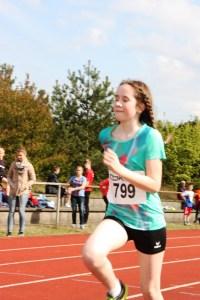 Annal-Lena bei ihrem ersten Wettkampf