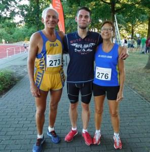 3000 m: vlnr. Horst Liedke, Fabian Krüger, Claudia Bührke