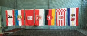 Die Flaggender teilnehmenden Bundesländer