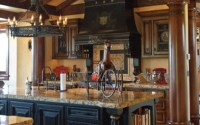 Black Kitchen Cabinets in Tuscan Kitchen Decor