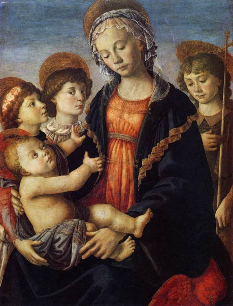 """Alla Galleria dell'Accademia di Firenze si può ammirare """"Madonna con Bambino, San Giovannino e due Angeli"""" del Botticelli"""