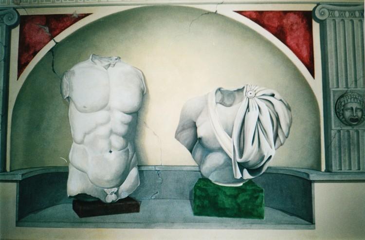 Gabriella Giaconi è un'eclettica artsta fiorentina che realizza trompe l'oeil, quadri e restauri su commissione