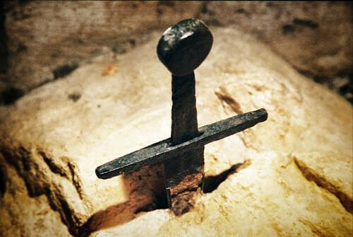 Vicino all'Abbazia di San Galgano, Siena, si torva la leggendaria spada nella roccia