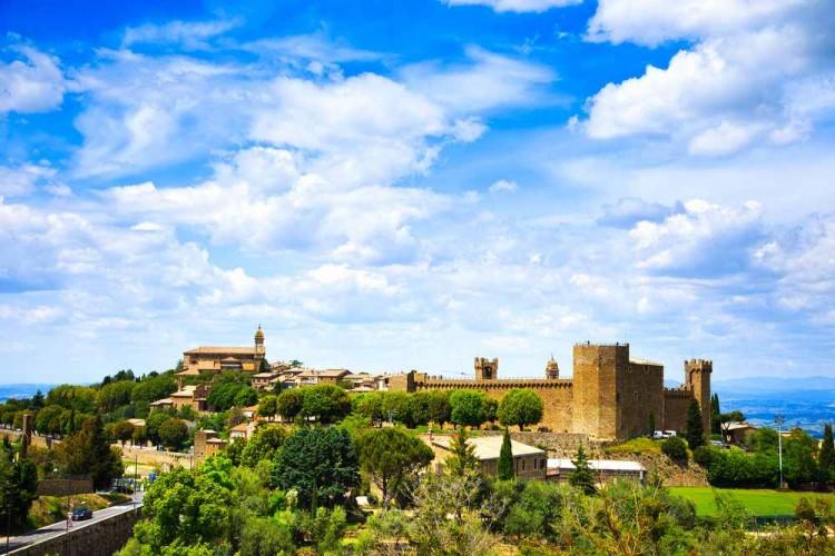 Montalcino, Siena, Toscana, Italia - Villaggio Medioevale