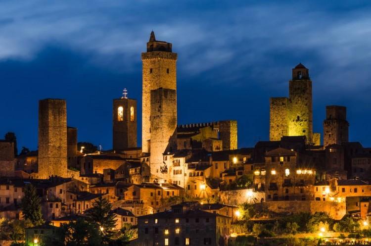 San Gimignano - SI vista di notte