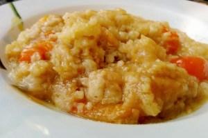 Piatto di acquacotta, piatto tipico della cucina toscana tradizionale.