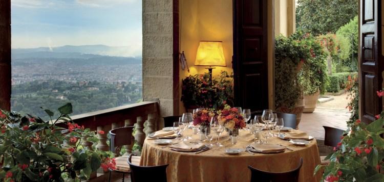 I 6 migliori ristoranti di design a Firenze,dove arredi, architettura e senso estetico incotrano la migliore cucina toscana reinterpretata in chiave moderna: Villa San Michele