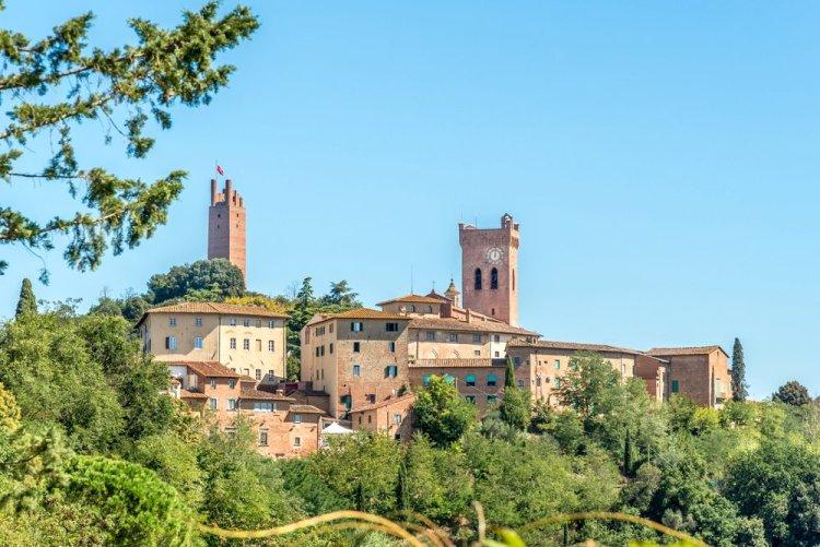 Panorama del borgo toscano di San Miniato in provincia di Pisa