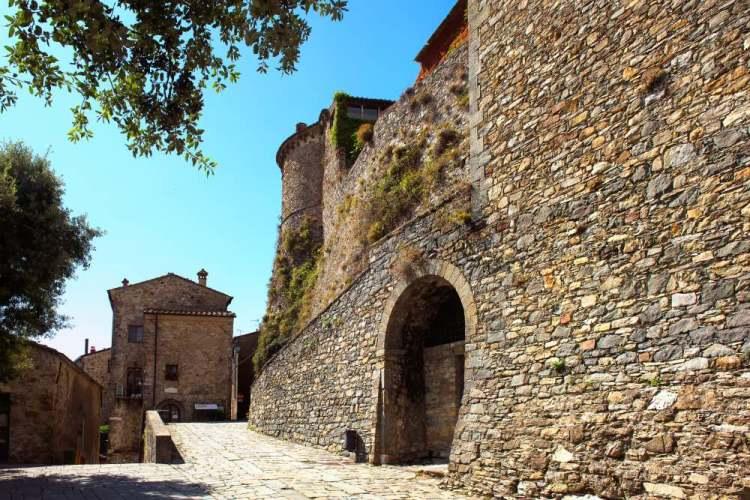 Il Castello dei Malaspina a Fsodinovo vicino Massa-Carrara