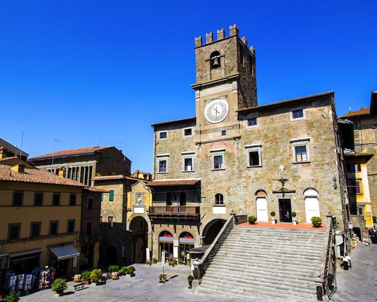 Piazza del Comune a Cortona