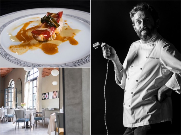 Chef Cristiano Tomei è uno degli chef stellati della Toscana. Il suo ristorante, L'Imbuto, si trova a Lucca nelle scuderie di Palazzo Pfanner