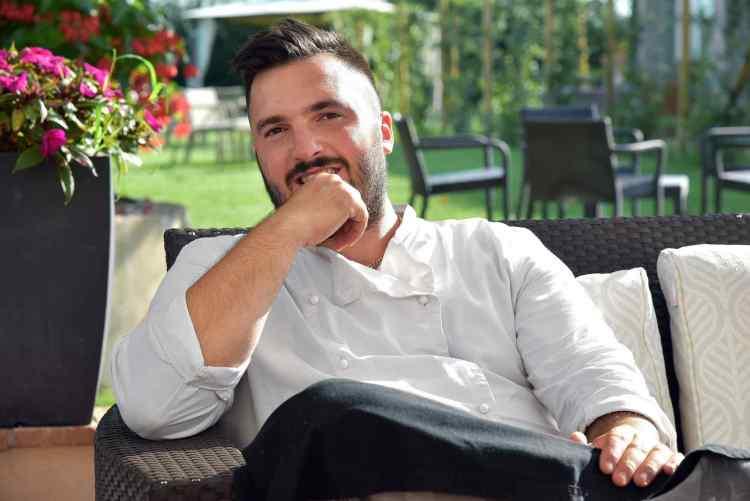 Chef Nicola Micheletti della Locanda Sant'Agata a San Giuliano Terme in Toscana