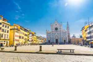 Il quartiere di Santa Croce a Firenze è sede della squadra di calcio in costume degli Azzurri