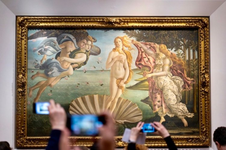 La Nascita di Venere è una delle più importanti opere d'arte in Toscana.