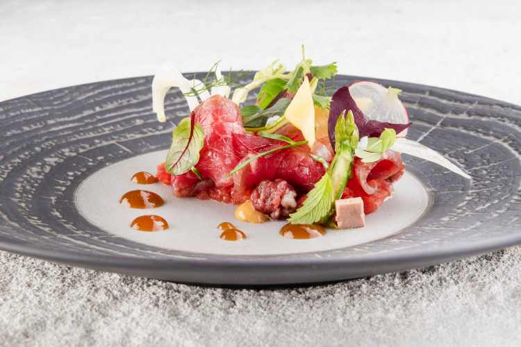Marinata di Mare dello chef Landi del ristorante Lunasia di Viareggio