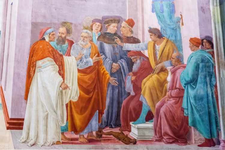 La Cappella Brancacci a Firenze è la sede dei famosi affreschi di Masaccio e Masolino