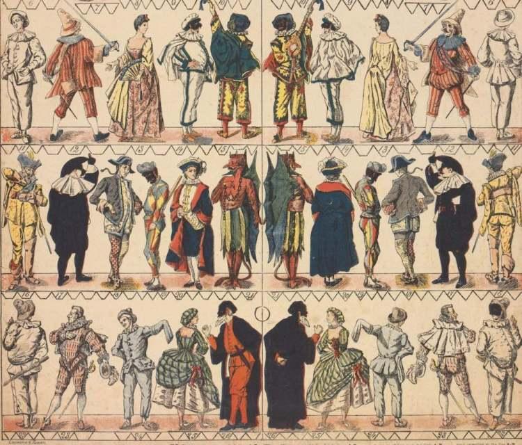 Le maschere di Carnevale e della commedia dell'arte italiana