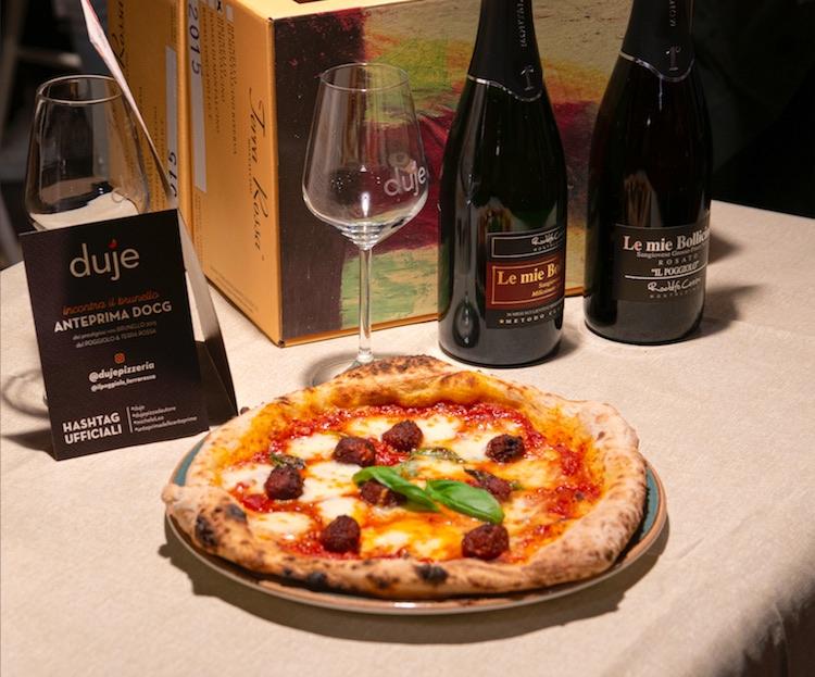 Pizza alle Polpette di Michele Leo alla Pizzeria Duje
