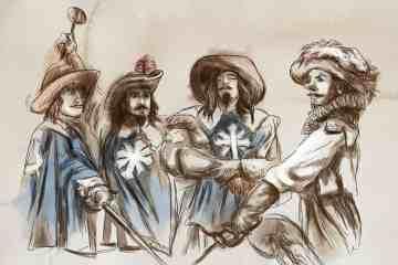 I tre moschettieri: uno per tutti, tutti per uno