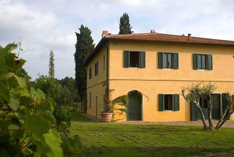 Una delle guesthouse della villa di Sting in Toscana