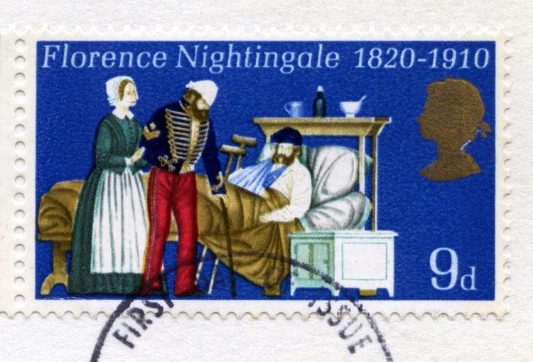 Francobollo per l'anniversario dei 100 anni dalla morte di Florence Nightingale