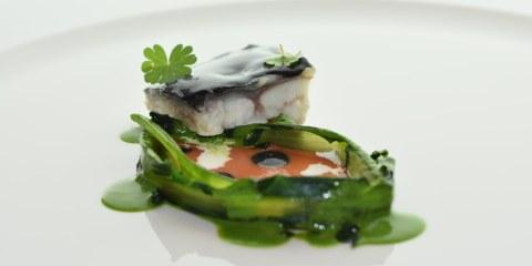 Anguilla dello chef Marco Cahssai del ristorante stellato Atman