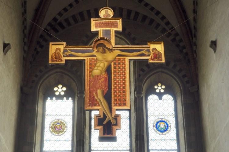 Crocifisso di Cimabue nella chiesa di San Domenico ad Arezzo