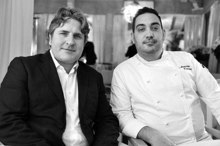 Lo chef e il titolare del ristorante Franco Mare a Marina di Pietrasanta