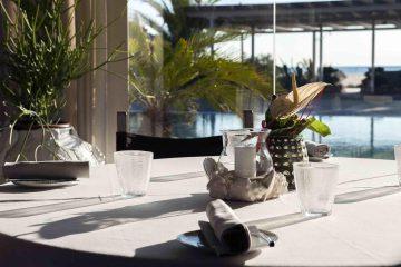 Tavolo del ristorante Franco Mare a Marina di Pietrasanta