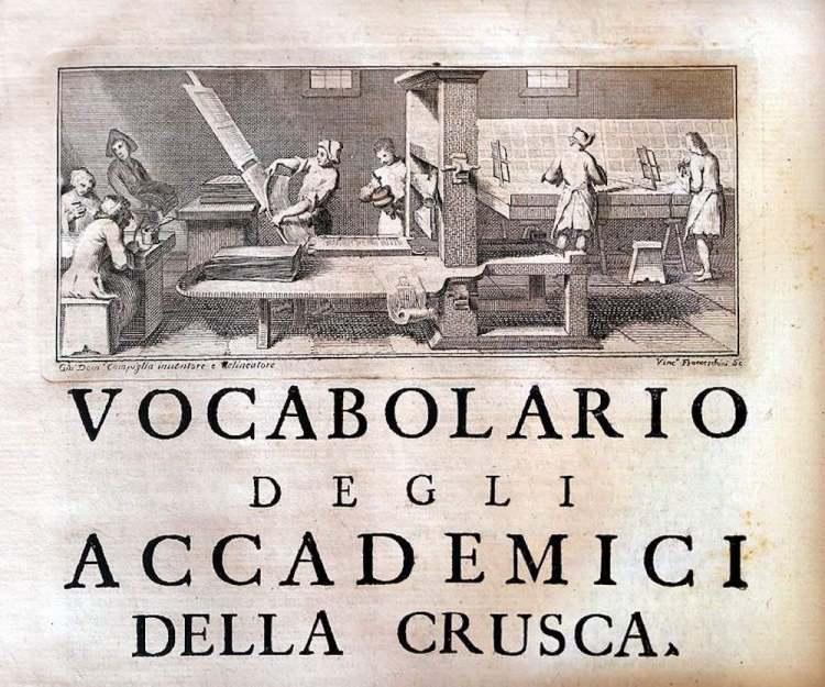 La IV edizione del Vocabolario degli Accademici della Crusca del 1729