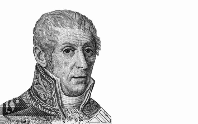 Ritratto di Alessandro Volta sulle vecchie banconote da 10mila Lire