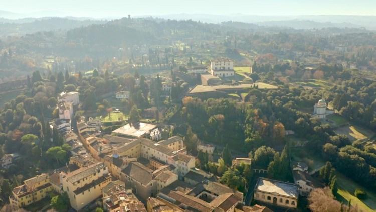 Panorama su Forte Belvedere e Costa San Giorgio a Firenze