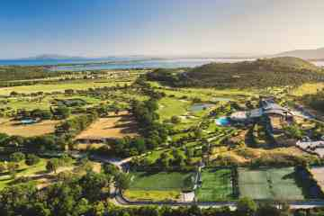 Vista dall'alto dell'Argentario Golf Resort all'Argentario