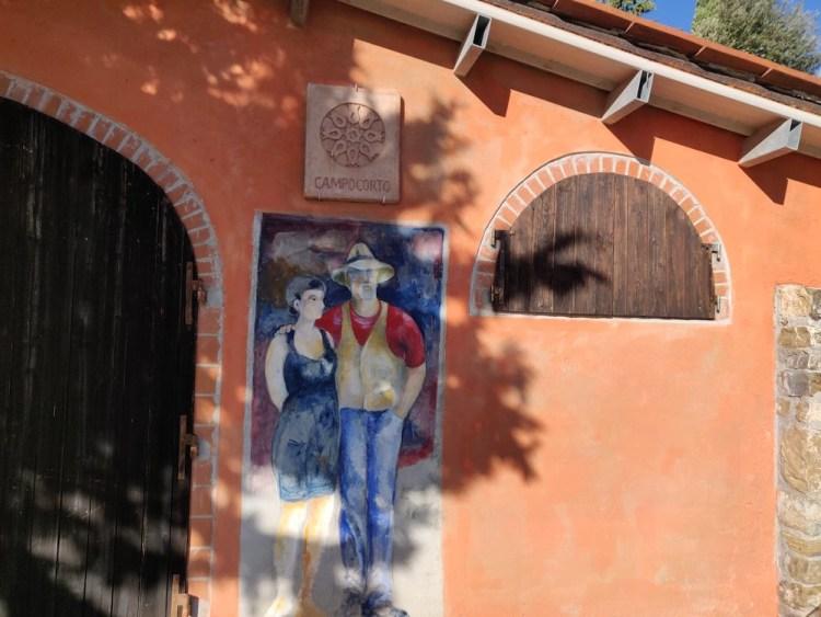 Ingresso dell'azienda vitivinicola Campocorto nel Chianti Classico