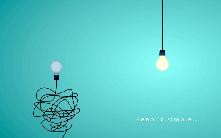 Concetto di semplicità con scritta Keep it Simple