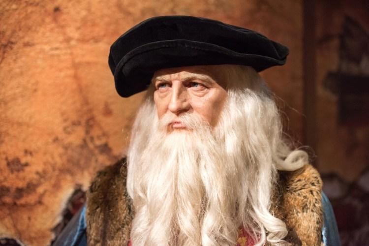 Statua di cera di Leonardo da Vinci al museo di Madame Tussauds di Istanbul