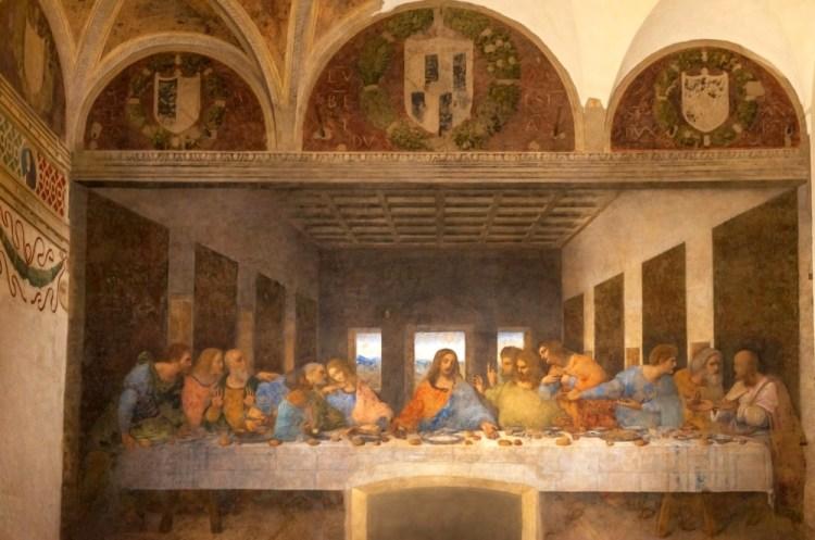 L'Ultima Cena, una delle più famose opere di Leonardo da Vinci