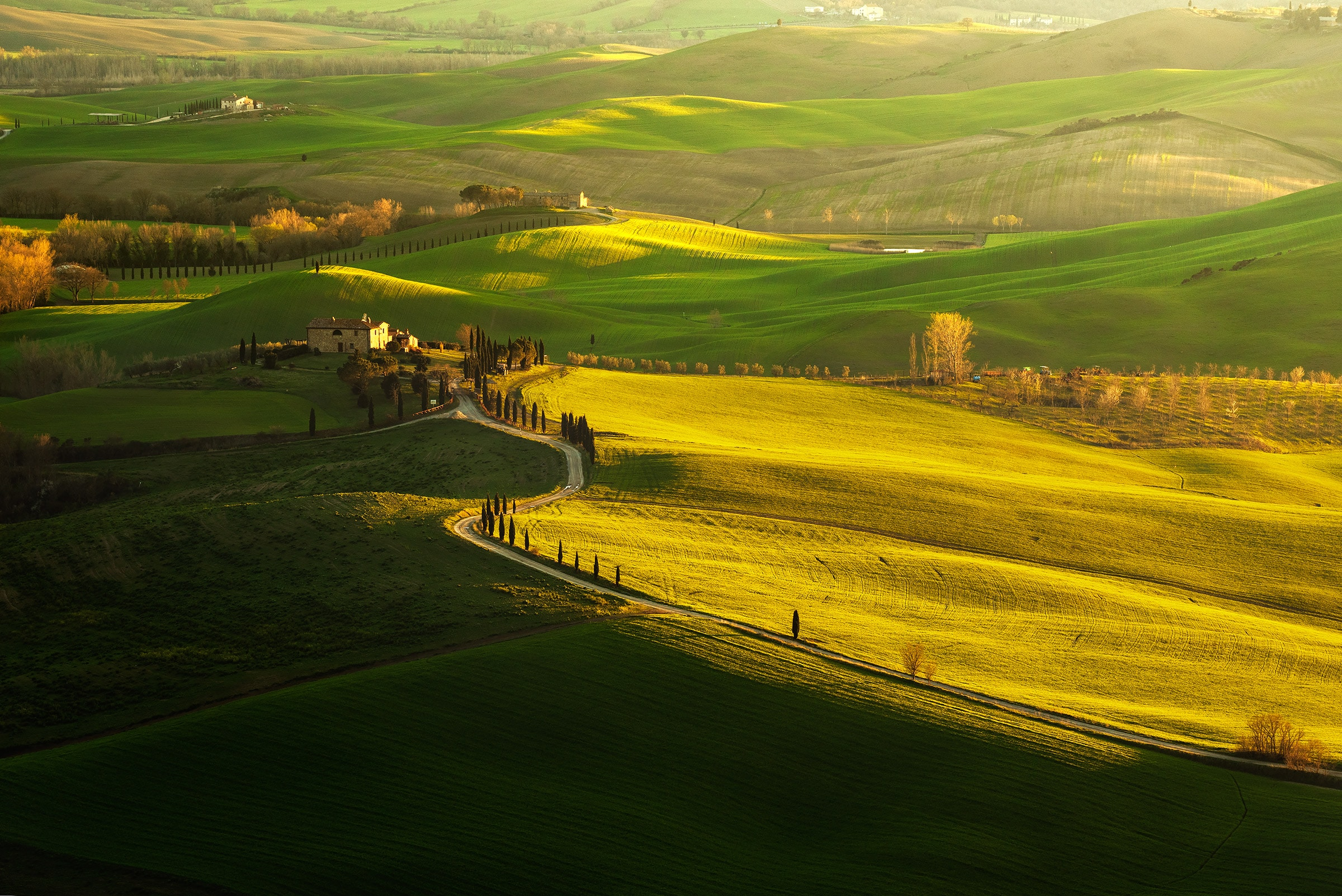 Tuscany spring sunset from Pienza photo workshop