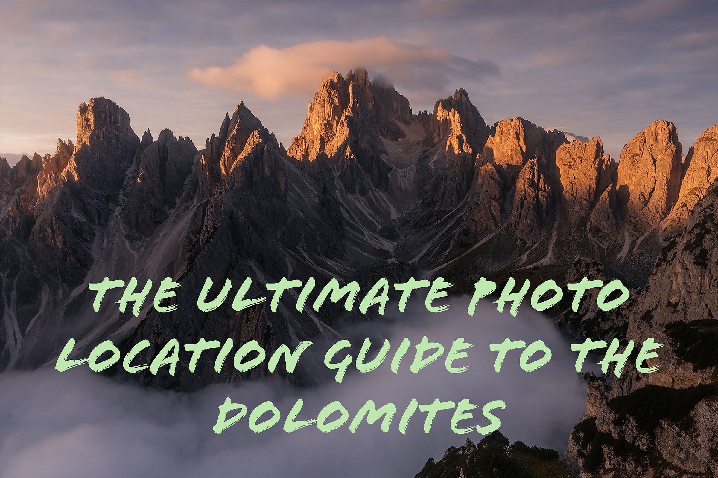 dolomites photo location guide workshop