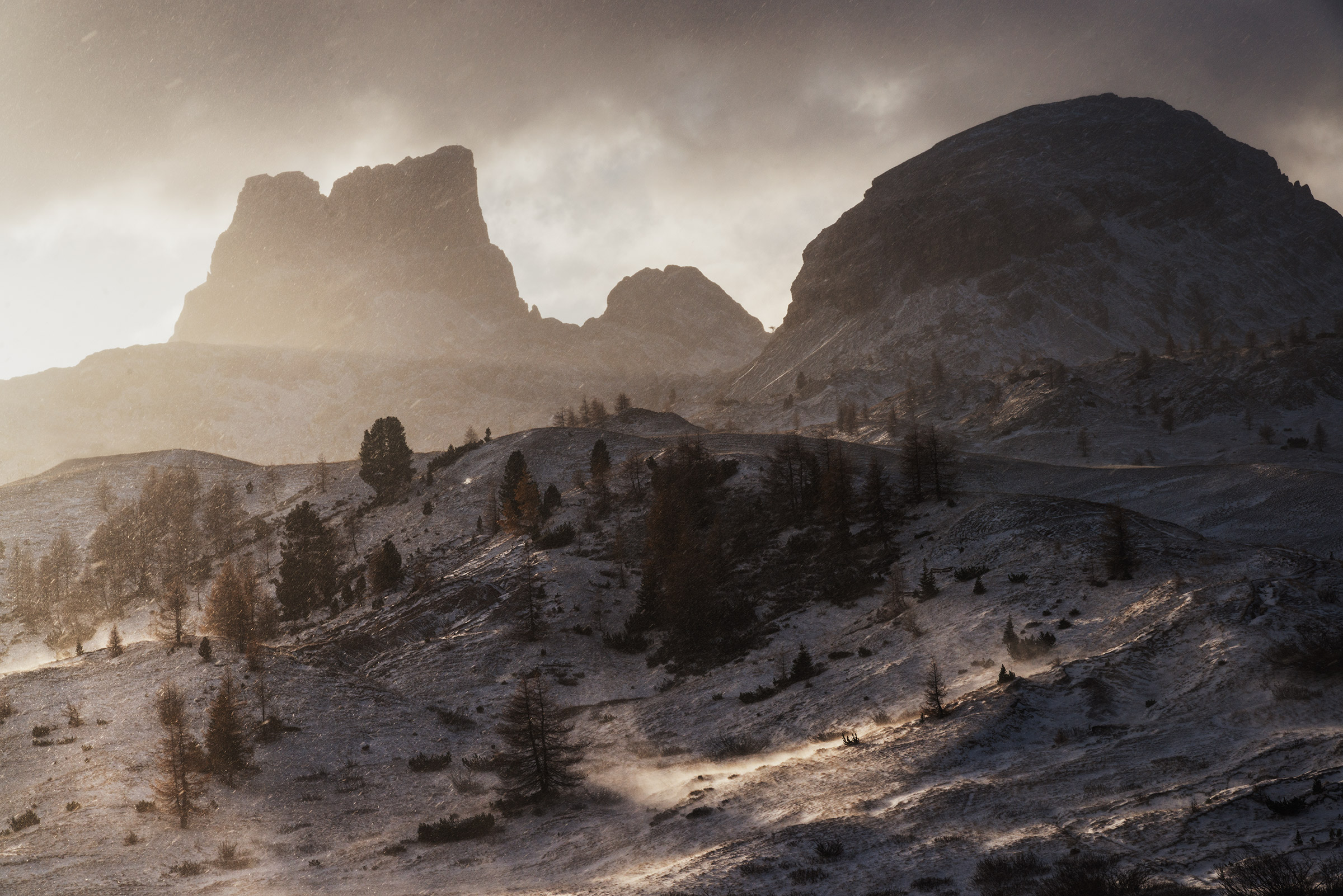 Dolomites at sunrise in winter photography workshop