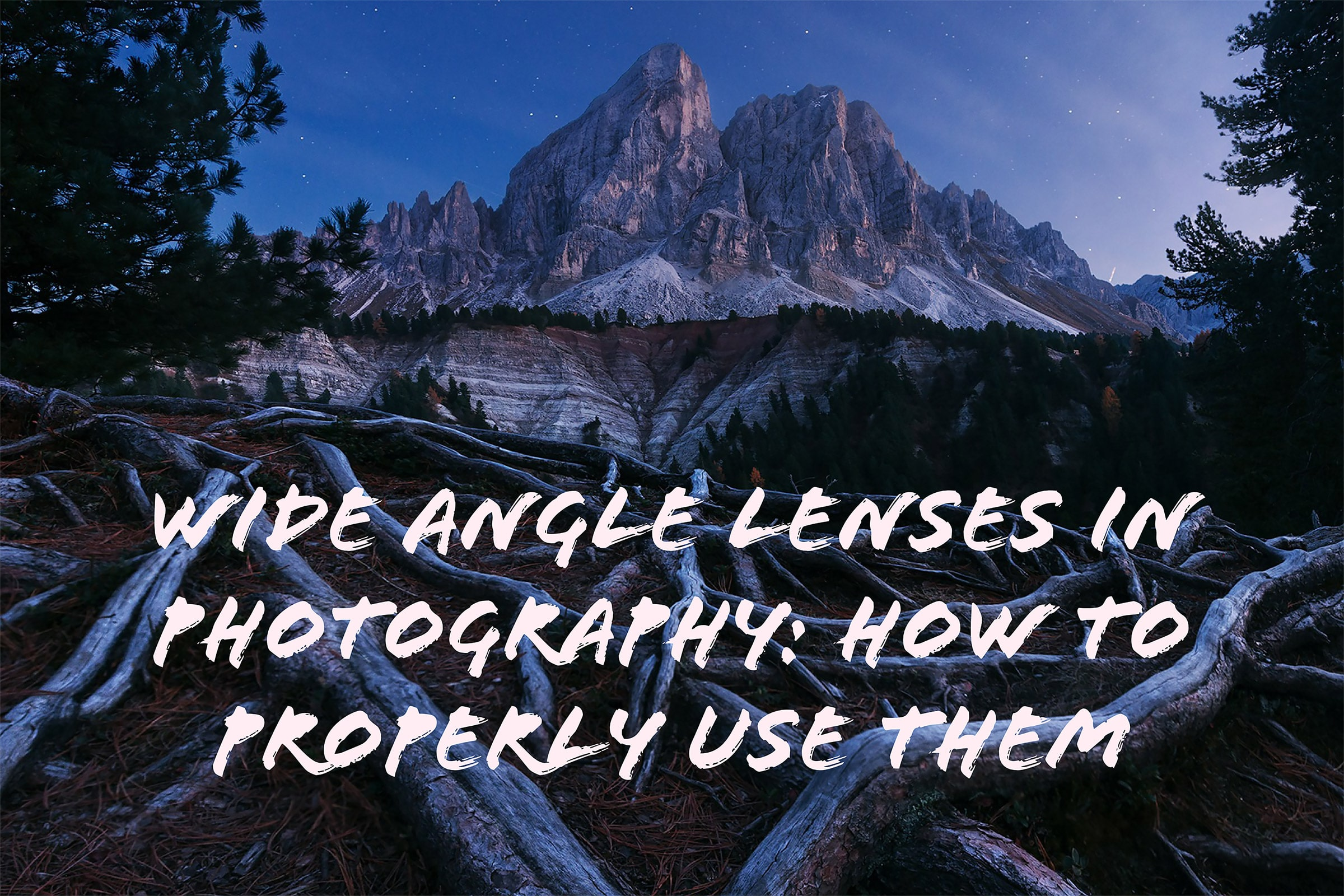 how to use wide angle lens in photography