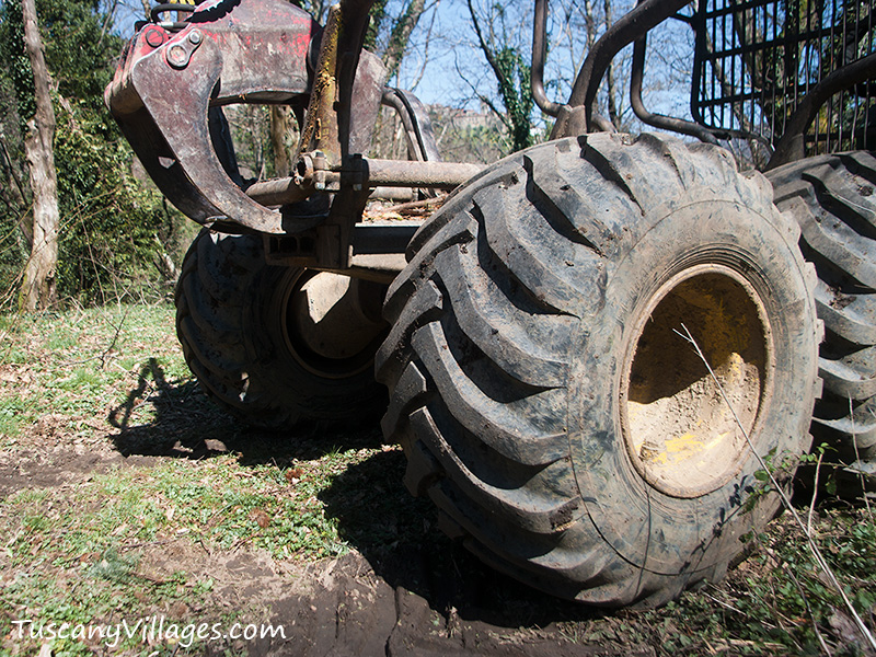 Huge tractor wheel