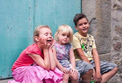 Local children at a Festa in Stiappa