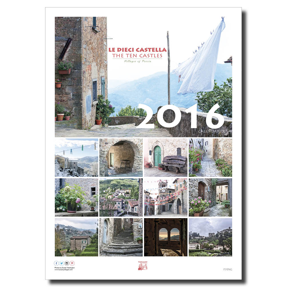 Tuscany Calendar 2016 front page 2016