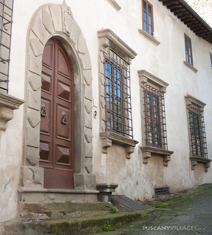 elaborate door and window, Tuscany